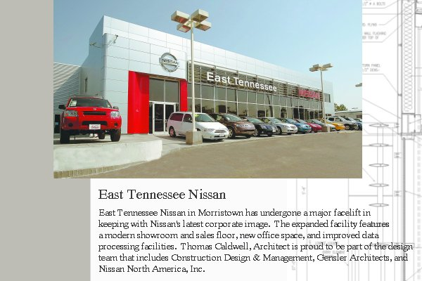 Thomas Caldwell, Architect   East Tennessee Nissan. »